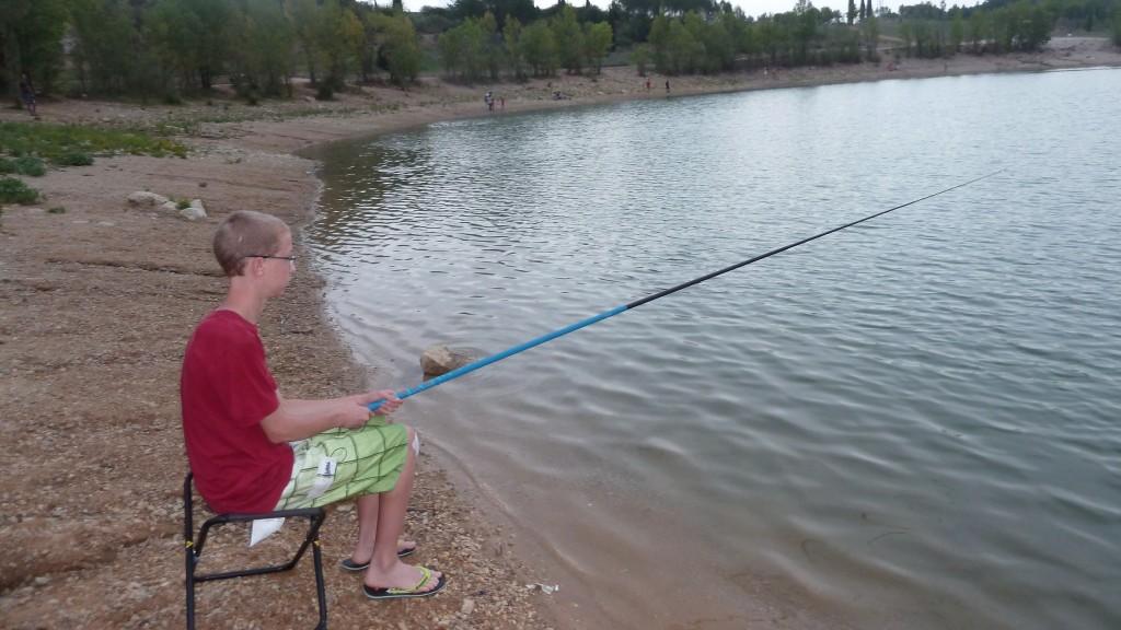 action de pêche au coup