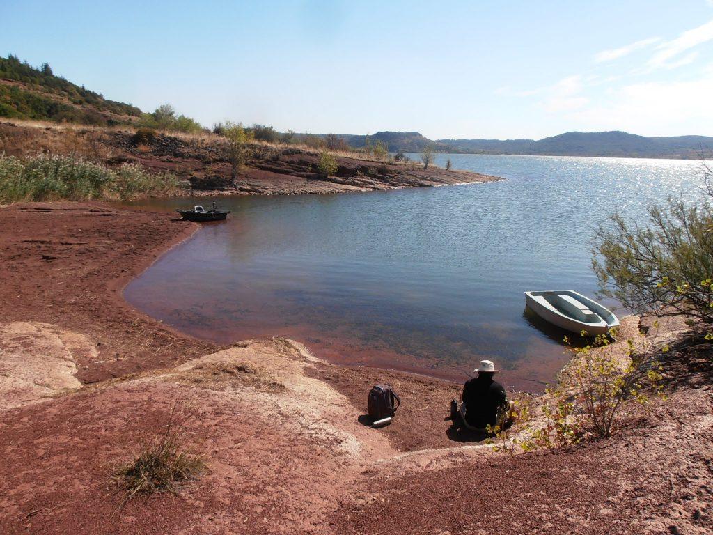 pêche lac du Salagou, Hérault